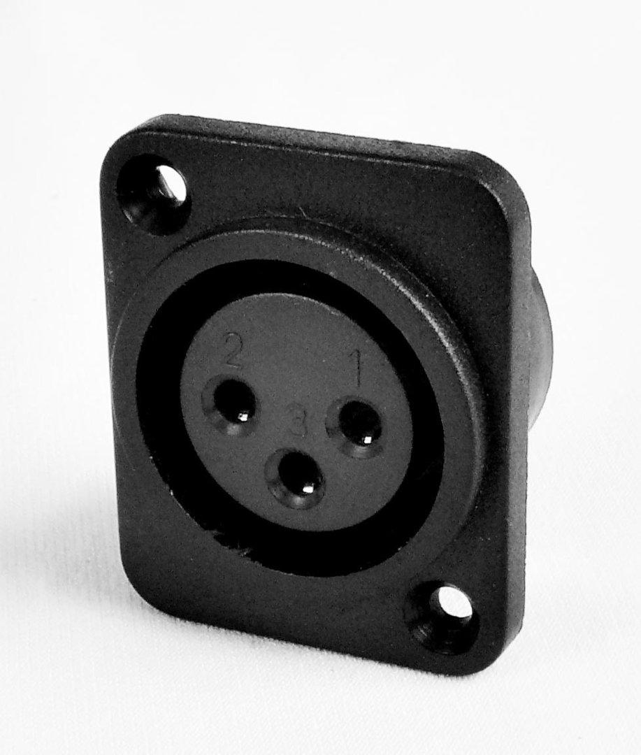 connecteur xlr 3 contacts encastrable v los lectriques. Black Bedroom Furniture Sets. Home Design Ideas