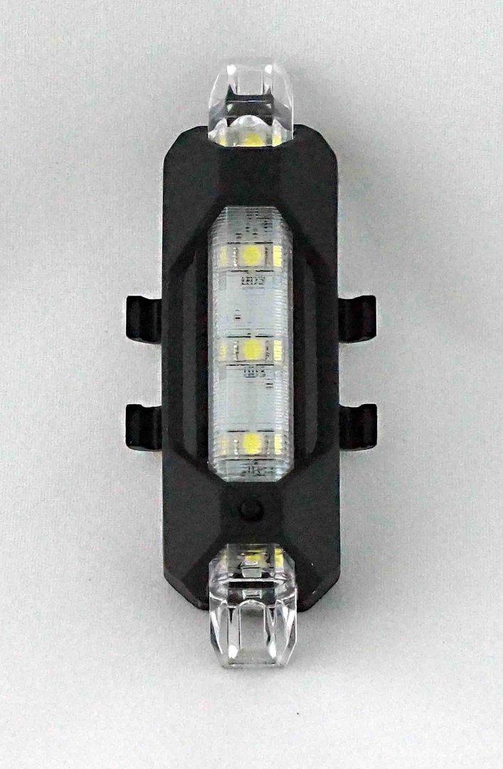 eclairage de v lo blanc avant arri re rechargeable usb 15. Black Bedroom Furniture Sets. Home Design Ideas