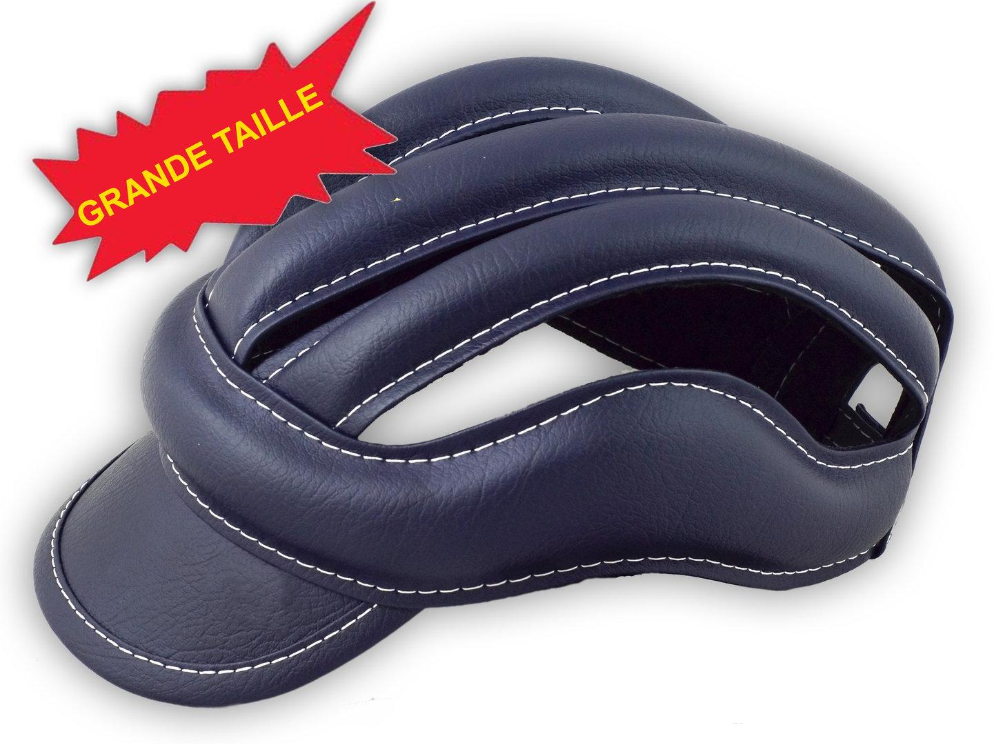 casque à boudin vintage haute protection couleur bleu marine fei