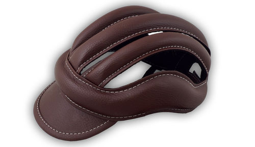 Casque à boudin vintage haute protection couleur Marron *FEI